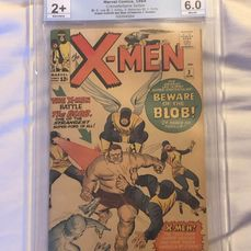 X-Men 3 - EGS 6.0 - First appearance of the The Blob - Agrafé - EO - (1964)