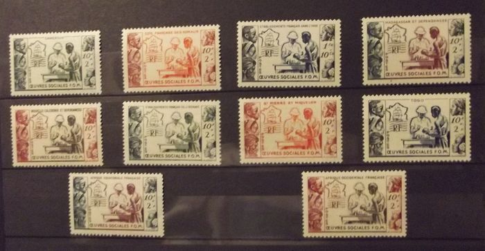 French Colonies 19501958 Large Colonial Series Five