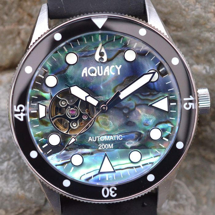 Aquacy - Cave Diver - Automatic - Abalone Dial  - CD.38.AB.B.L - Heren - 2011-heden