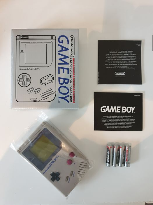 Nintendo, Nintendo Gameboy Classic DMG-01 1989 Console+Original Random Game New State - Console - With reprobox