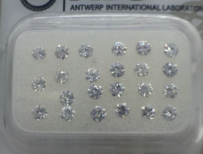 23 pcs Diamantes - 1.05 ct - Brillante - D (incoloro), E - **no reserve price***SI2,SI1,VS2,VS1,VVS2,VVS1