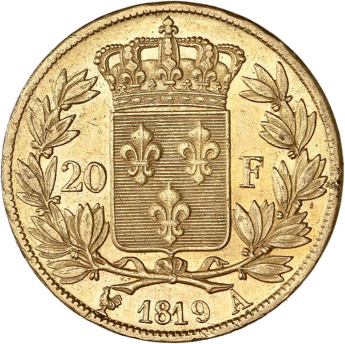 20 Francs 1819-A Louis XVIII - Or