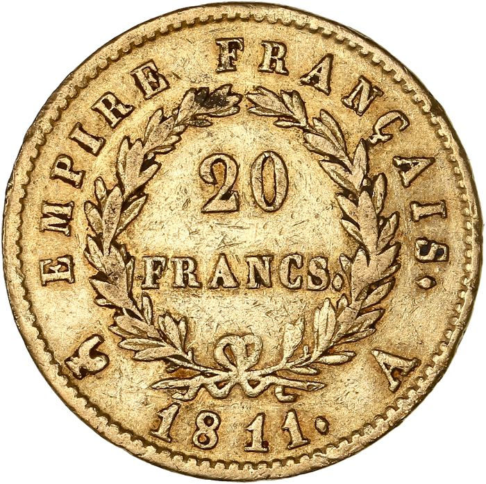 20 Francs 1811-A Napoléon I - Or