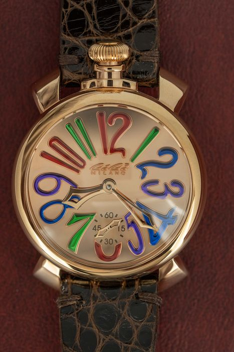 GaGà Milano - Mechanical Manuale 48MM Rose Gold Mirror Limited Edition of 500 - 5211 - Unisexe - BRAND NEW