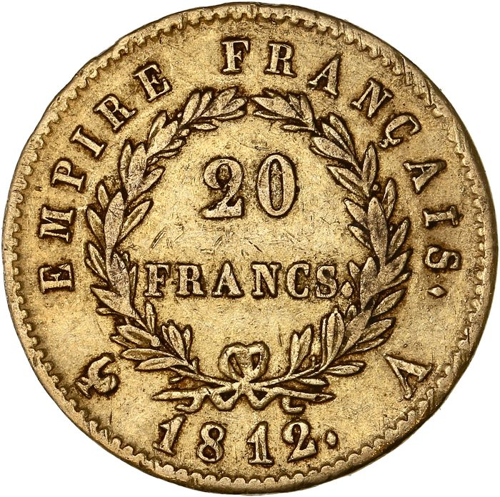 France - 20 Francs 1812-A Napoléon I - Or