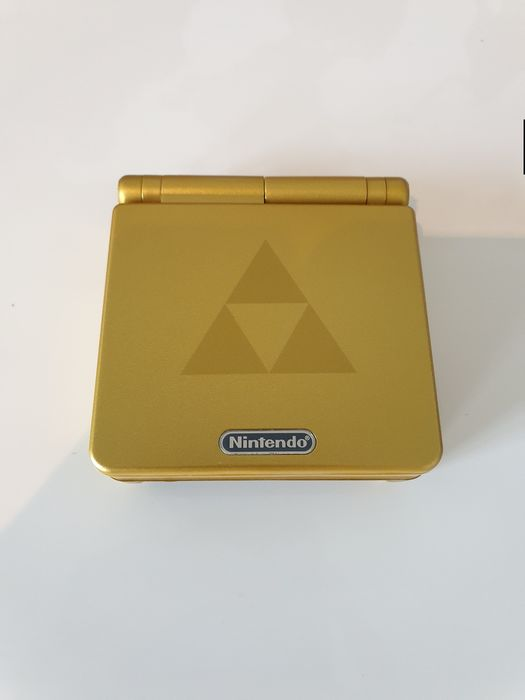 Nintendo Game boy Advance SP GBA Console, Limited Edition ZELDA LINK Housing - Console - Entièrement rénové