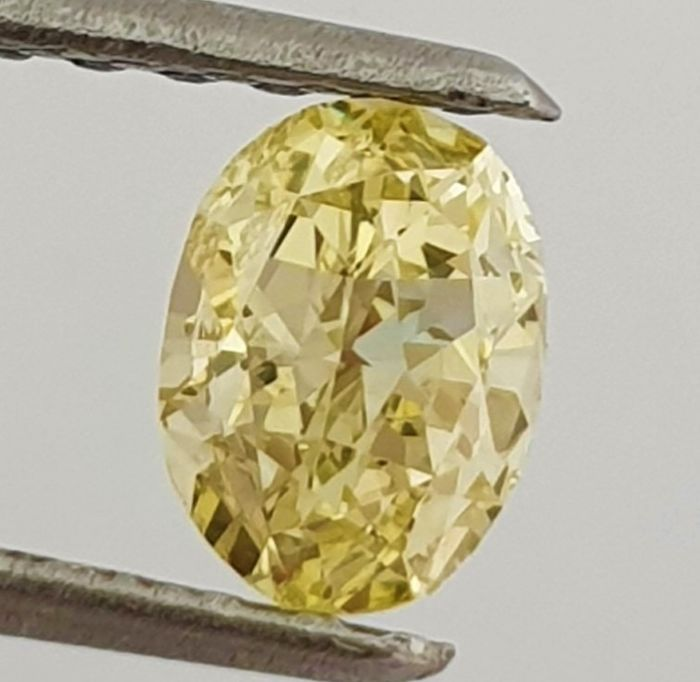 Diamante - 0.32 ct - Ovalado - Natural Fancy Yellow - VVS1