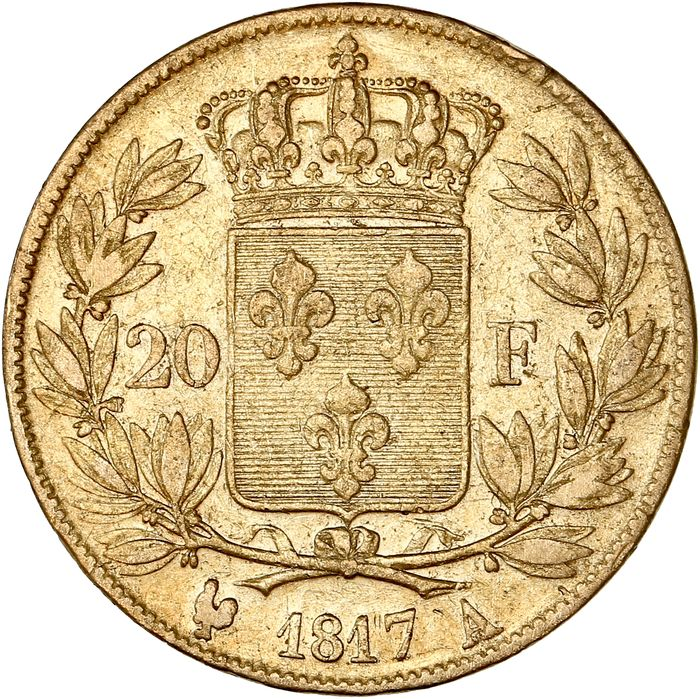 20 Francs 1817-A Louis XVIII - Or