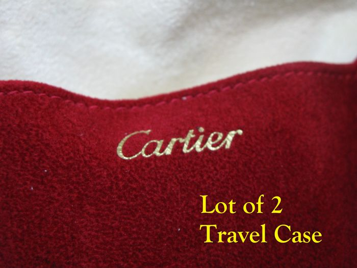 Cartier - Lot of 2 Cartier Red Soft Case - Ideal for travel - Unisex - 2011-heden