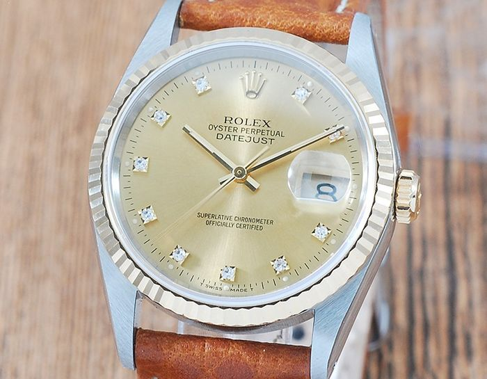 Rolex - Oyster Perpetual DateJust  - 16233G - Homme - 1990-1999