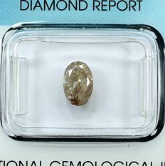 Diamond - 1.21 ct - Oval - Natural Fancy Pinkish Brown - I1 - NO RESERVE PRICE