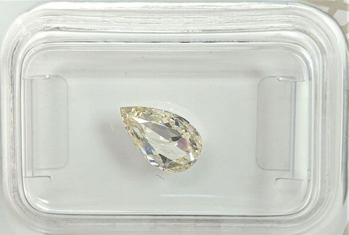 Diamant - 1.08 ct - Poire - fancy light yellow - SI2, No Reserve Price
