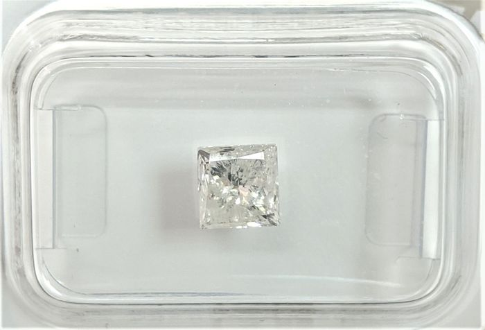 Diamant - 1.00 ct - Princesse - I - I2, No Reserve Price