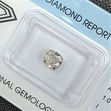 Diamant - 1.01 ct - Coussin - I - I1, IGI Antwerp - No Reserve Price