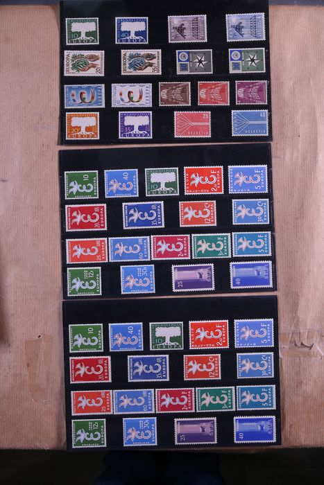 CEPT / Europa unita 1957/1985 - Batch of complete series on stock cards in box