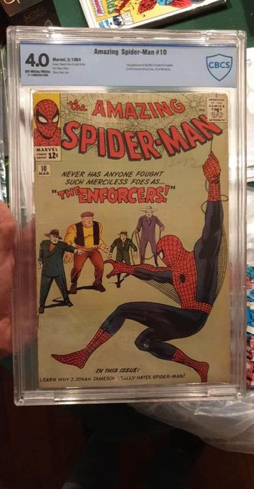 Amazing Spider-Man  10 - Amazing Spider-Man #10 CBCS 4.0 - Agrafé - EO - (1964)