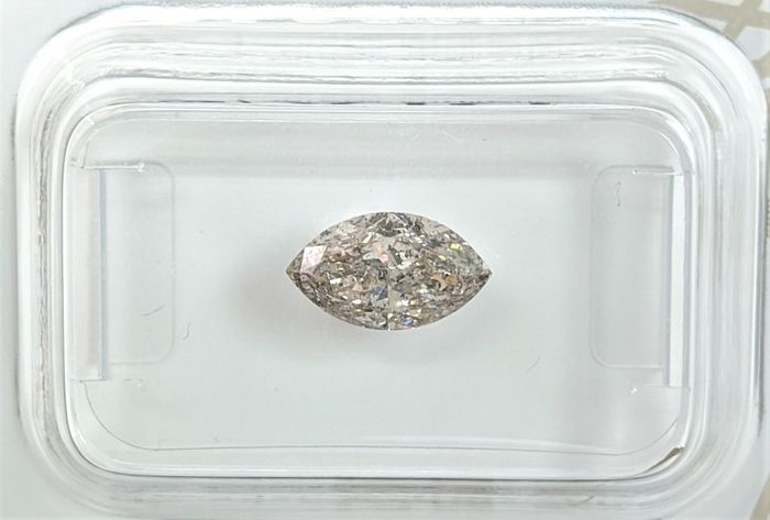 Diamant - 1.01 ct - Marquise - Light Greyish Brown - SI3, No Reserve Price