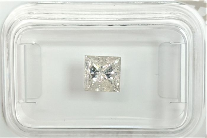 Diamant - 1.04 ct - Princesse - K - I2, No Reserve Price