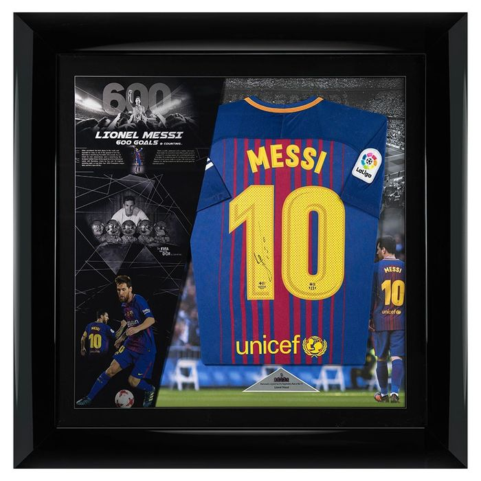 Signed & Framed Barcelona - Rare Player Issue - Lionel Messi - Jersey