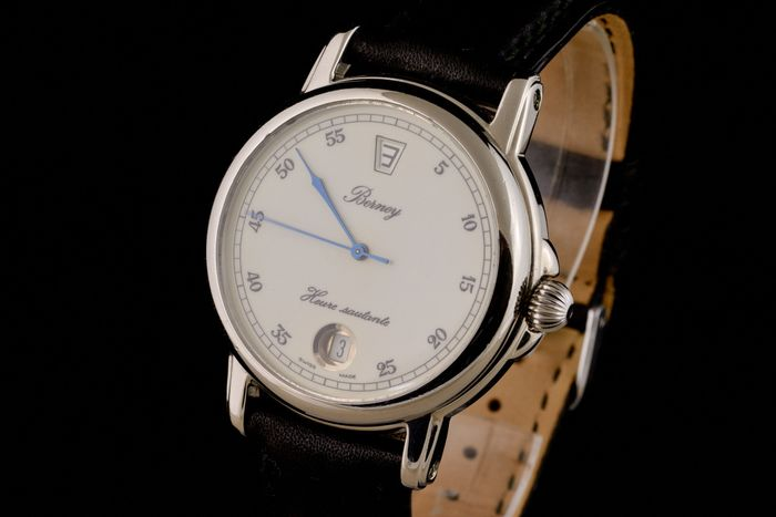 """Berney - Heure Sautante Jumping Hour Automatic - """"NO RESERVE PRICE"""" - Homme - 2000-2010"""