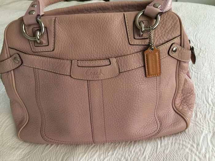 Coach - Pink Leather Sac à main