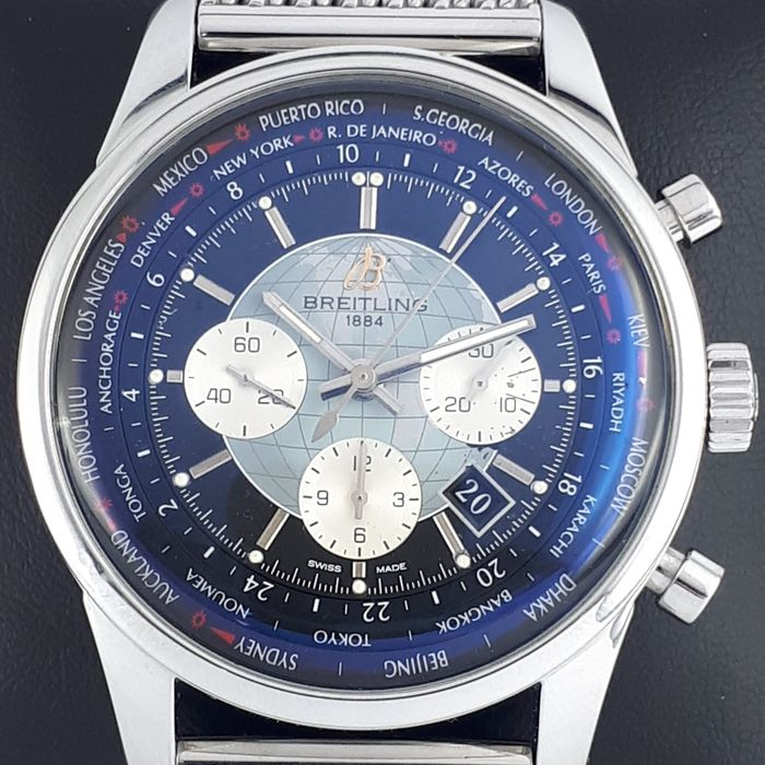 Breitling - Transocean Chronograph Unitime - Ref: AB0510 - Heren - 2011-heden
