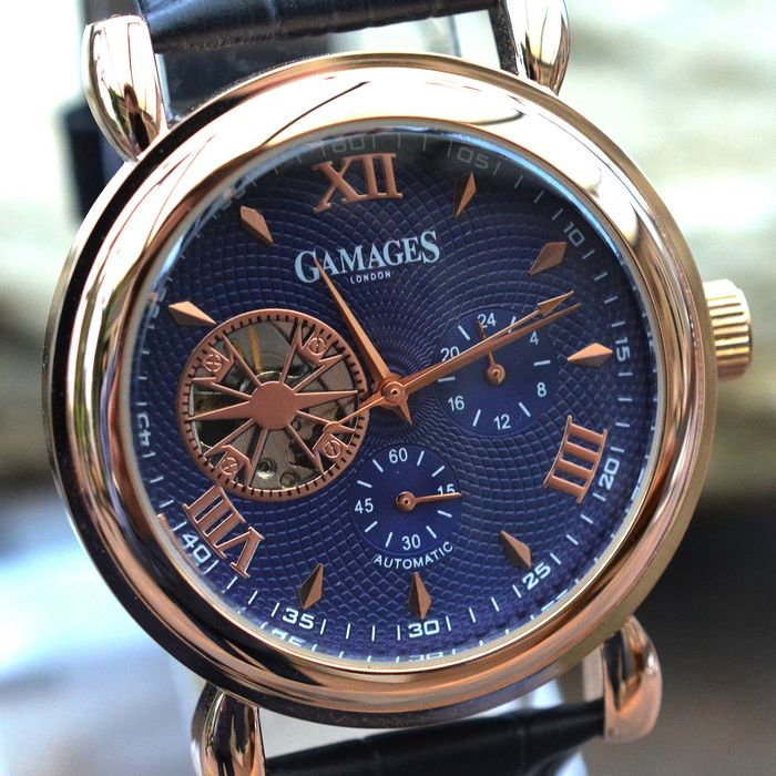 Gamages of London - Blue Hour Timer - Automatic - Hand assembled - GA0008 - Herren - 2011-heute