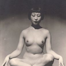 John Everard - Nude Asian woman meditating, c. 1939
