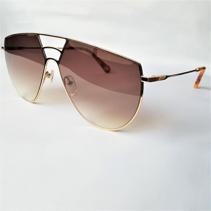 Chloé - Gold Special Metal Pilot Aviator Gradient - New - Made in Italy - 2020 Sunglasses