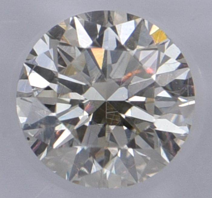 1 pcs Diamante - 0.54 ct - Redondo - M - SI1, No Reserve Price!