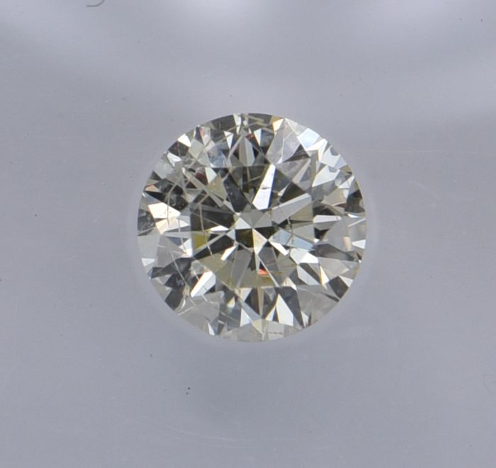 1 pcs Diamante - 0.50 ct - Redondo - light yellow - SI2, No Reserve Price!