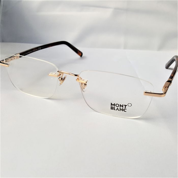 Montblanc - Rimless Gold Havana - New - 2020 - Made in Italy Bril