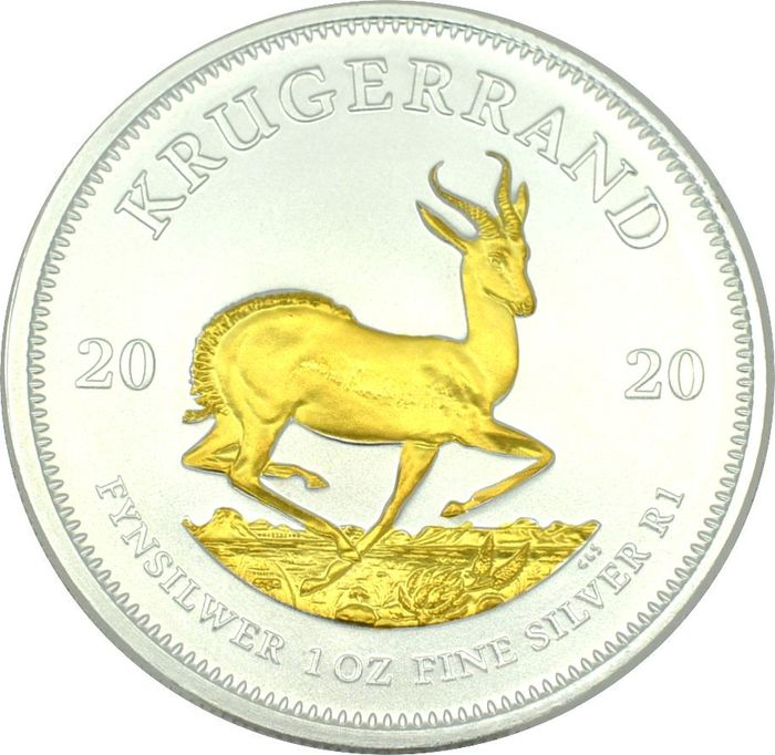 South Africa - Krugerrand 2020 Gilded Edition - 1 Oz - Silver