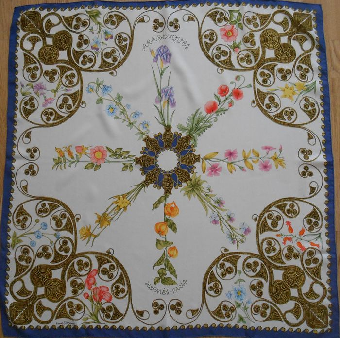 """Hermès - Vintage Collector's scarf """"ARABESQUE""""- 1963 - designed by d'Origny, in very good condition Pañuelo"""