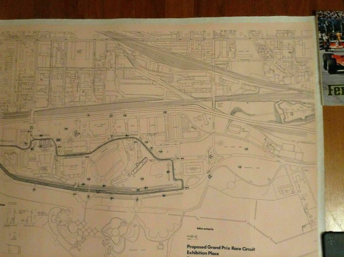 Poster - Map - rare \'78 original Proposed GP Toronto Race ...