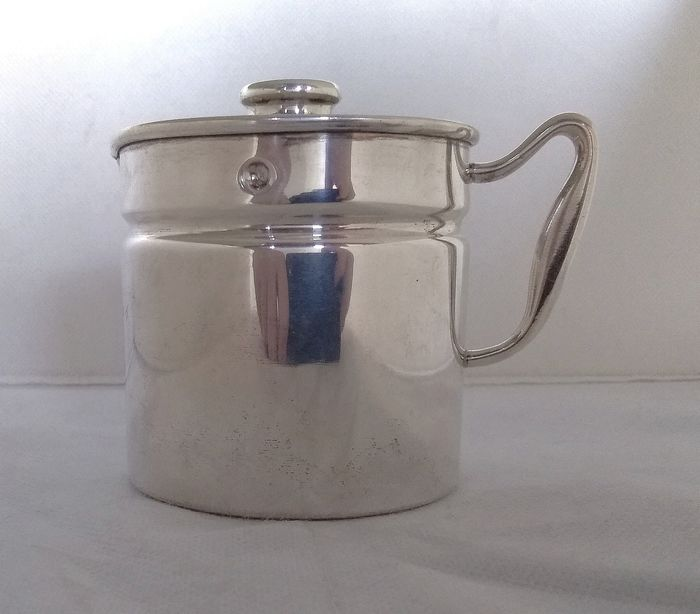 Extremely rare milk warmer  - .800 silver - Bruno Piccioli - Florence  - Italy - Mid 20th century