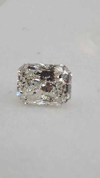 1 pcs Diamant - 0.71 ct - Radiant - I - SI1