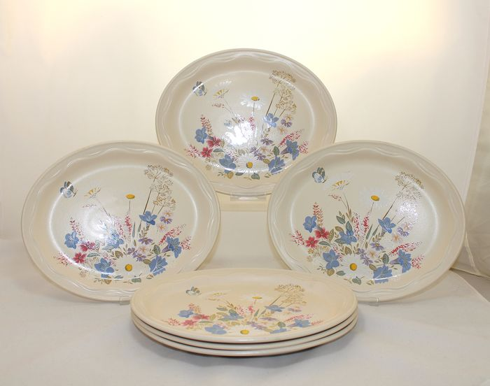 Poole - Springtime - Oven to tableware - Assiettes (6) - Romantique - Céramique