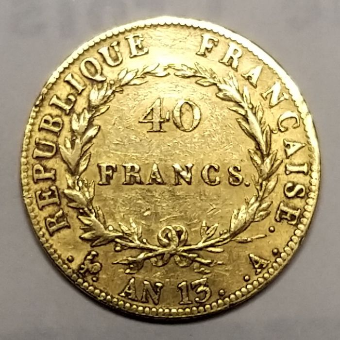 40 Francs An 13-A Napoléon I - Or