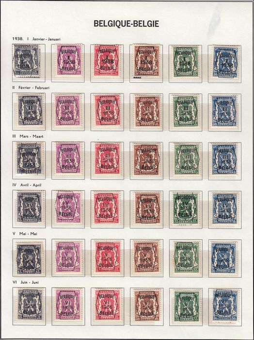 België 1925/1965 - Advanced collection of precancel stamps from the period - Unificato Vari