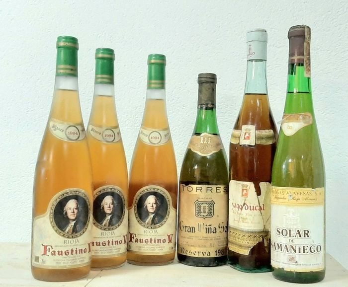 Lot of White wines - Penedes, Rioja - 6 Bottles (0.75L)