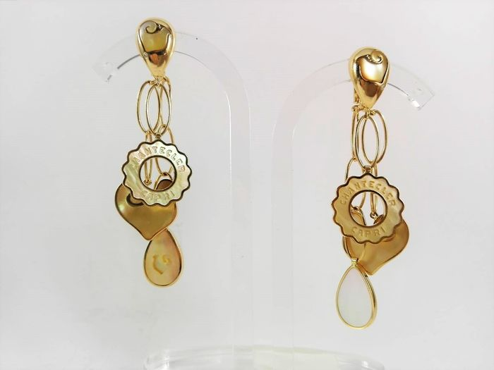 Chantecler Oro amarillo - Pendientes - 0.02 ct Diamante