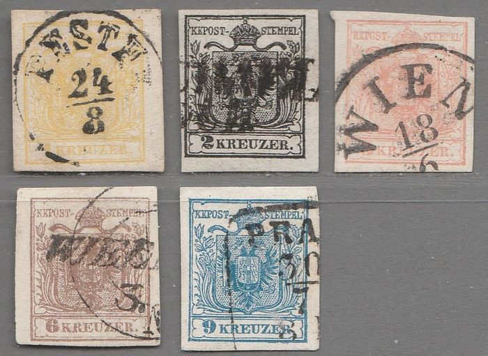 Autriche 1850 - Issue 1850 - ANK 1-5