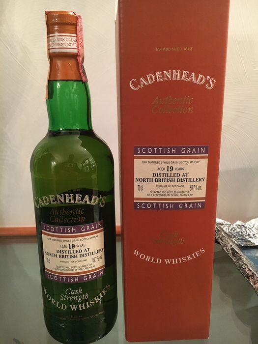 North British 19 years old Autentic Collection - Cask Strength - Cadenhead's - b. anii `90 - 70 cl