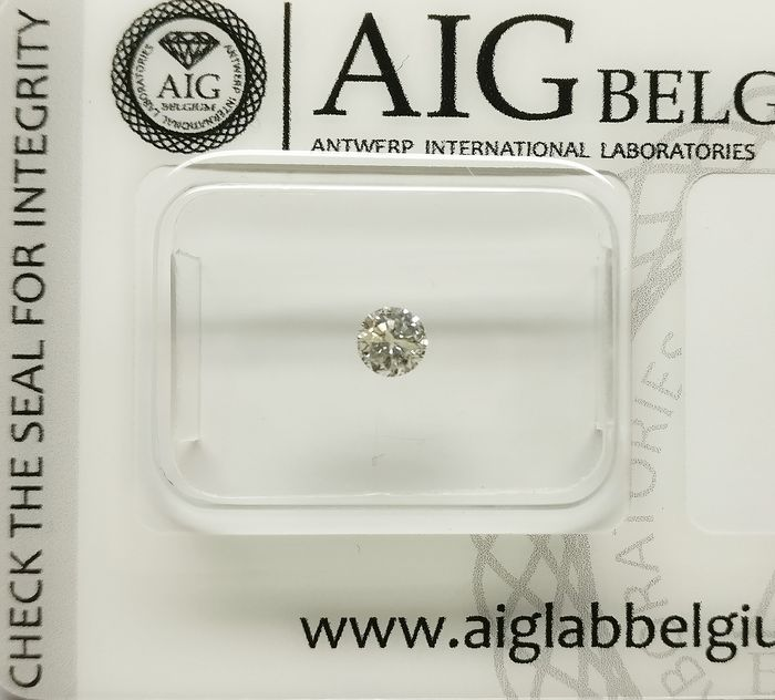 1 pcs Diamant - 0.18 ct - Brillant - K - I1