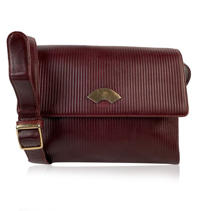Karl Lagerfeld - Burgundy Ribbed Schoudertas