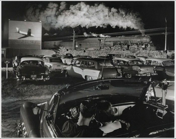 O. Winston Link (1914-2001) - Drive-In Theater - Sometimes the electricity fails.