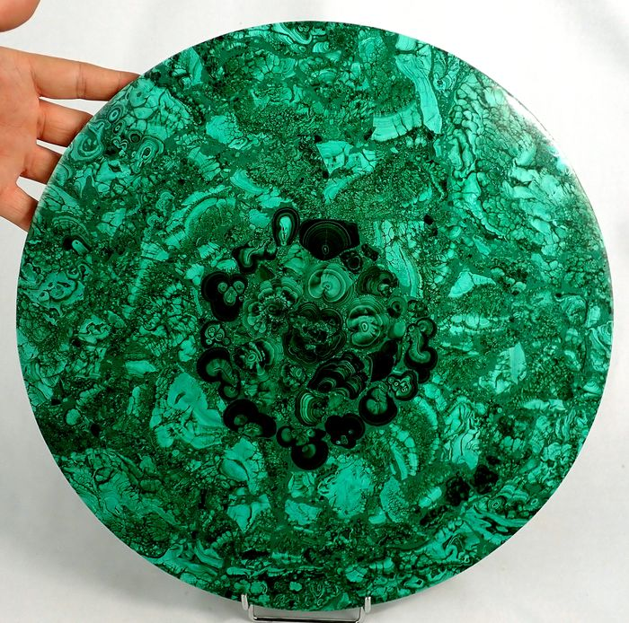 First Quality Natural Malachite disco - 350×350×10 mm - 2510 g
