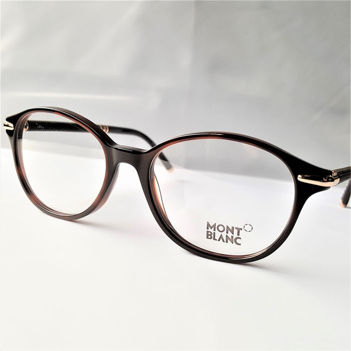 Montblanc - Oval Special Temples Brown Dark Havana Gold - New - 2020 - Made in Italy Bril