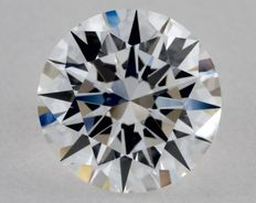 1 pcs Diamond - 1.02 ct - Rotund - D (fără culoare) - IF (perfect), 3EX - Low Reserve Price